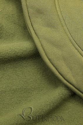 Khaki színű aszimmetrikus fazonú felső