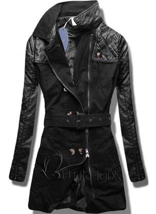 Fekete színű női kabát M206