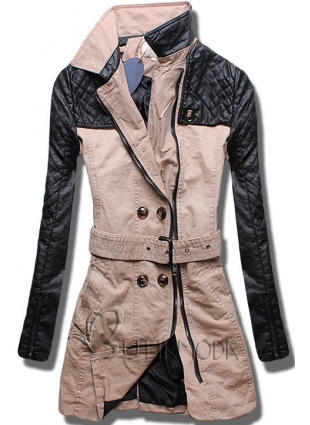 Bézs színű női kabát M206