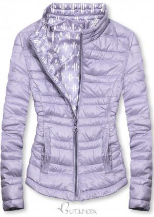 Lila színű rövid kifordítható dzseki