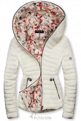 Fehér színű steppelt dzseki mintás béléssel