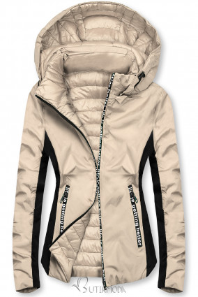 Bézs színű sportos kifordítható dzseki