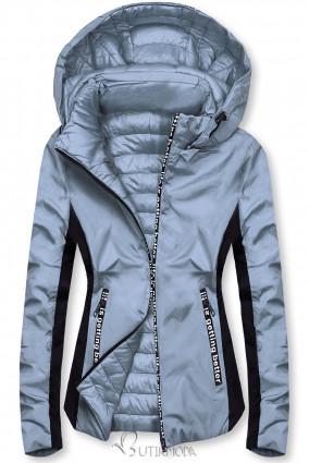 Palakék színű sportos kifordítható dzseki