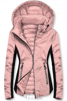 Rózsaszínű sportos kifordítható dzseki