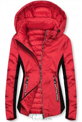 Piros színű sportos kifordítható dzseki