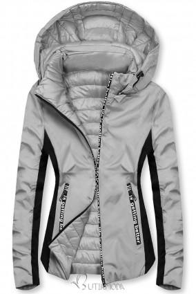Szürke színű sportos kifordítható dzseki