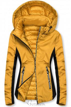 Sárga színű sportos kifordítható dzseki