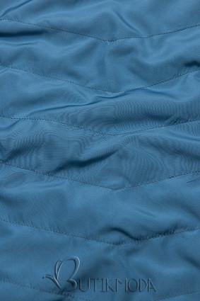 Sötétkék és kék színű parka levehető kapucnival
