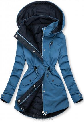 Kifordítható kabát - kék és sötétkék színű
