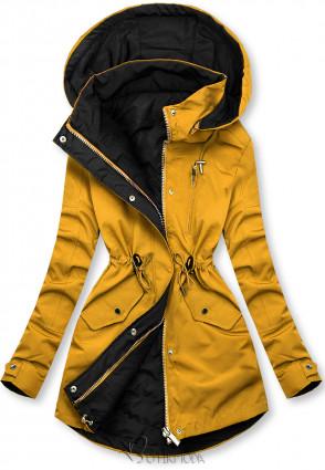 Kifordítható kabát - sárga és fekete színű