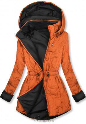 Steppelt őszi parka - narancs és fekete színű