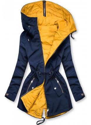 Kifordítható átmeneti parka - kék és sárga színű