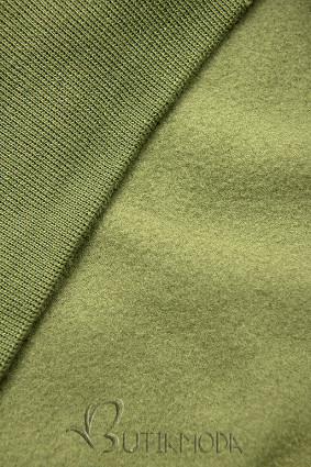 Khaki színű melegítő szett rátéttel
